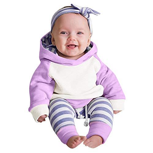 Ropa bebé, Amlaiworld 3pcs Conjunto de Ropa para bebé niñas Sudadera con...