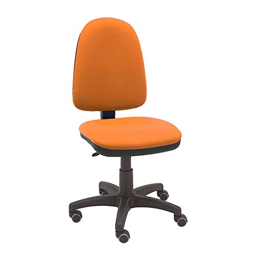 La Silla de Claudia - Silla giratoria de escritorio Torino naranja para oficinas y hogares ergonómica con ruedas de parquet