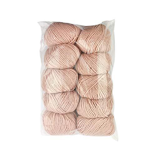 Tricot Café - Ovillos de lana Susy en paquete de 10 unidades - Made in Italy - 50% lana, 50%...