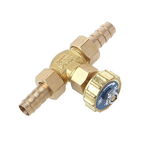 VIccoo Codo Válvula de Aguja de latón 10 mm Propano Butano Ajustador de Gas Espigas de púas 1 Mpa