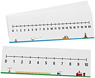 Didax Educational Resources 0-10/0-20 Number Line, Set of 10