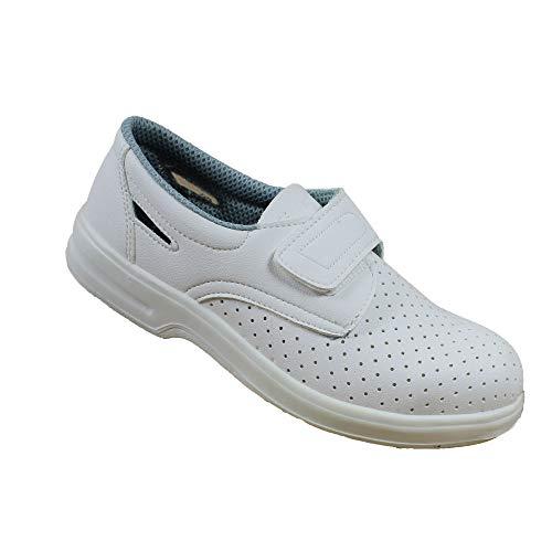 Blanco B-Stock Iturri O1 FO SRC Zapatos de Seguridad Zapatos de Trabajo Zapatos del Cocinero Zapatos de Trabajo Plana, Tamaño:36 EU