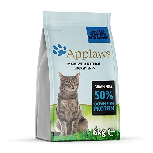 Applaws - Alimento Secco per Gatti Adulti, Pesce d'Oceano con Salmone