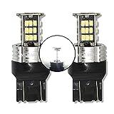 MCK Auto - Reemplazo para T20 7443 W21 / 5W LED CanBus Conjunto de bombillas blancas muy claras y sin errores F20 F21