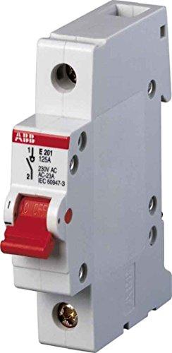 ABB Stotz S&J Hauptschalter E201/25R 25A 1p. rot System pro M compact Schalter für Reiheneinbau 4016779645645