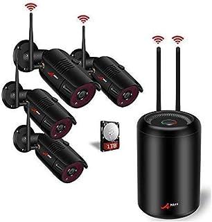 【2020 Nuevo】 1080P Kit Cámaras de Vigilancia WiFi Exterior ANRAN 4CH Sistema de Vigilancia WiFi NVR 2MP 4 Cámaras de Seguridad con 1TB HDD Visión Nocturna Detcción de Movimiento Impermeable IP66
