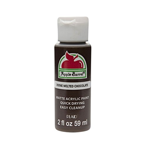 Apple Barrel Acrylic Paint in Assorted Colors (2 oz), 20258, Melted Chocolate