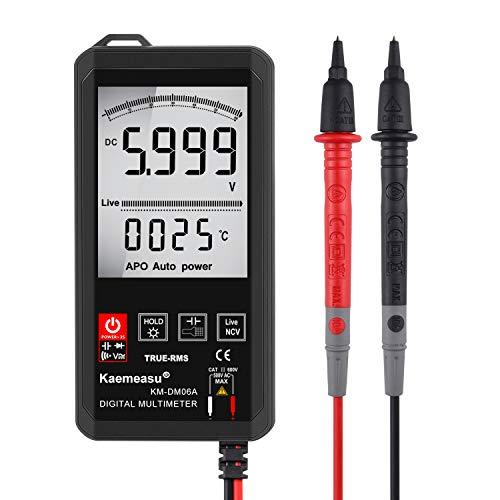 Kaemeasu Big screen Auto Recognition Smart Mini Touch Digital Multimeter Ultra-thin Pocket Electronic Repair Tools KM-DM06A