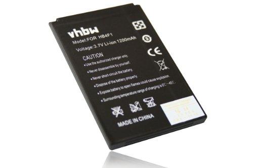 vhbw Li-Ion Akku 1200mAh (3.7V) kompatibel mit Smartphone Handy Handy Lenovo A1, C101, LePhone 3G W100, LePhone W100 Ersatz für HB4F1, C634104130T.