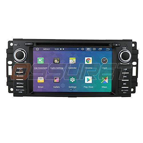 Android 10 Car Stereo Radio Navegación GPS con Pantalla táctil de 6.2 Pulgadas Mirror-Link Bluetooth WiFi 4G USB DVR SWC RDS Se Adapta a Chevrolet/Jeep/Dodge