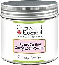 Greenwood Essential Pure Curry Leaf Powder (Murraya koenigii) Organic Certified 100% Natural Therapeutic Grade 200gm