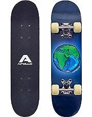 Apollo Kinderen Skateboard, Klein Compleet Board met ABEC 3 Lagers, Aluminium Assen, Verschillende Designs - Voor Kinderen en Tieners
