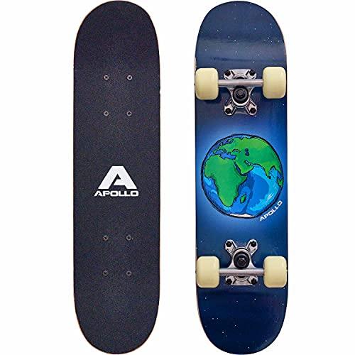 skateboard junior Apollo Skateboard per Bambini - Cruiser Boards per ragazze e ragazzi - Fantastici Designs per bambini e ragazzi - Board in Legno