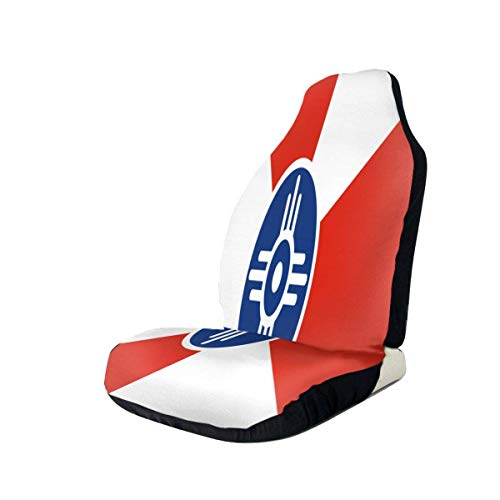 Stoelhoezen vlag van Belangrita voorstoelhoezen 100% polyester Car Decor stoelhoes voor auto Ultra duurzaam en vuilafstotend voor SUV Van Camper