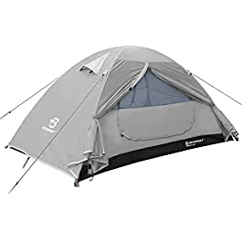 Bessport Camping Tent 2 & 3 & 4 Person Tent Waterproof Two Doors Tent Easy Setup Lightweight for Outdoor, Hiking…