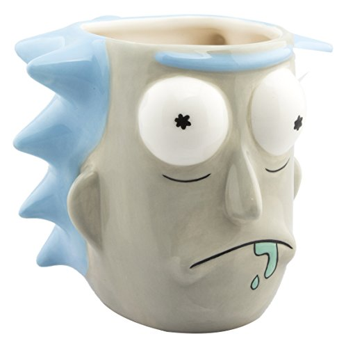 GB eye Morty Rick Sanchez 3D Mug, Ceramic, Various, 13 x 13 x 12 cm