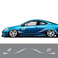 車のステッカー 繊細 デカール フルボディ カー サイド ステッカーFor Kia Sportage Rio, For Honda Fit Civic Accord, For Ford Focus 2, For Fiat Punto, For Lexus RX, For Hyundai, For Lada