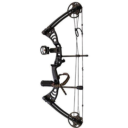 Southland Archery Supply SAS Scorpii 55 Lb 32' Compound Bow (Black w/Accessories Kit)