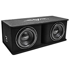 SDR Series 12-inch Dual 4-ohm loaded Subwoofer Enclosure Peak Power: 2,400 Watts | RMS power: 1,200 Watts Pre-wired Internally for a 1 Ohm Final Impedance Load at the Terminals for an Easy Installation Custom Vented Enclosure Made of High Strength 5/...