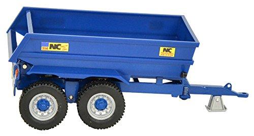 TOMY Britains - NC Kippanhänger 400 / Traktor Anhänger mit kippbarer Mulde und öffenbarer Klappe / Für Kinder ab 3 Jahre - perfekt zum Spielen und Sammeln