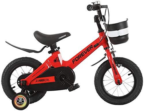 Miwaimao Bicicleta de Niños Niño Niña Bicicleta De 3 – 6-7 Años Bicicleta De Niño De 12/14/16 Pulgadas Bicicleta De Aire Libre (Color, Rosa, Tamaño, 14 Pulgadas), Rojo, 14 Pulgadas