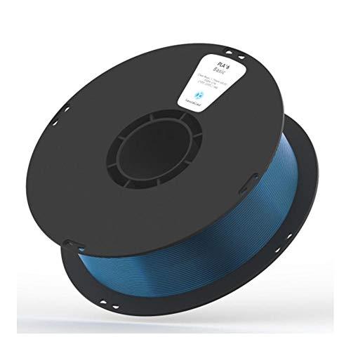 3D-Druckfilament 1 kg, PLA K5T-Filament 1,75 mm, hohe Transparenz und hohe Zähigkeit-Transparentes Blau