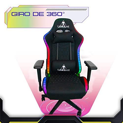 silla gamer rgb de la marca LIBITIUM