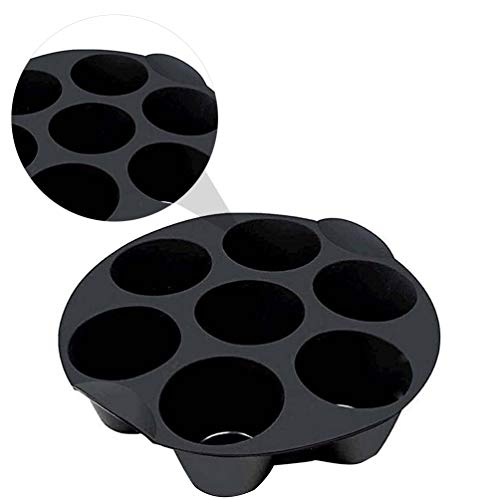 Cabilock 7 Gitter Silikon Schokoladenkuchen Tassen Formen Luftfritteuse Zubehör (Zufällige Farbe)