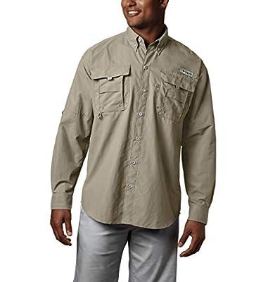 Columbia Men's PFG Bahama II Long Sleeve Shirt , Fossil, Large