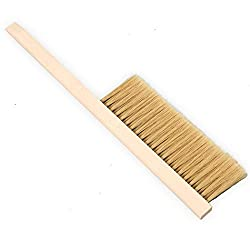 Image of wooden bee brush, top beekeeping equipment