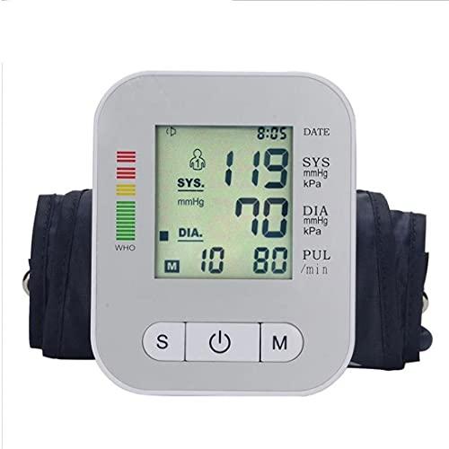 Tester automatique Pression artérielle périphérique Grand écran Bras supérieur numérique BP Silver Machine