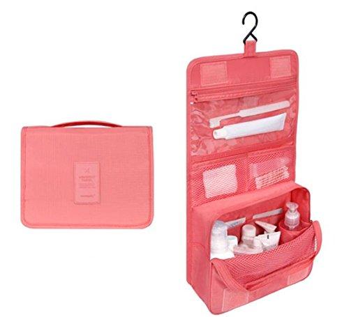 Organiseur de maquillage trousse cosmétique Portable kit de voyage Organiseur à suspendre Trousse de toilette et cosmétiques Sac de transport 4.7\