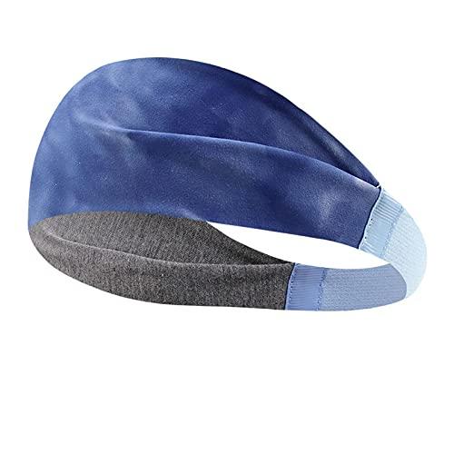 Diademas deportivas para mujeres y hombres, entrenamiento, gimnasio, yoga, bandas elásticas antideslizantes para el sudor (color-D)