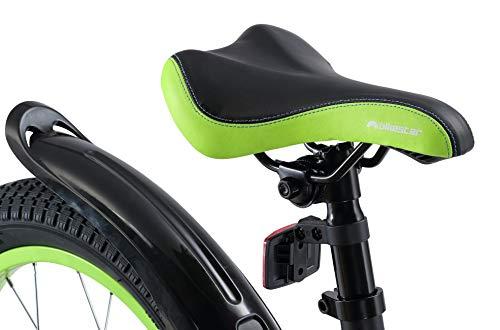 BIKESTAR Vélo Enfant pour Garcons et Filles de 4-5 Ans Bicyclette Enfant 16 Pouces Mountainbike avec Freins Noir & Vert