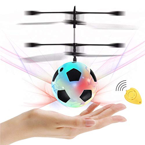 Flying Ball, Kids Soccer Toys Hand Control Helicopter Mini Infrared Induction Drone Magic RC Flying Light Up Toys Indoor and Outdoor Games Fun Gadgets for Boys Girls Kids Teenagers