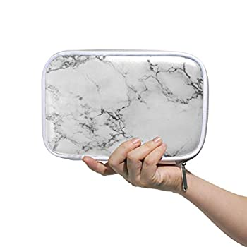 MOFEIYUE Pencil Case Holder Abstract Marble Print Zipper Pencil Pouch Cosmetic Makeup Brush Bag Stationery Pen Box Passport Organizer Bag