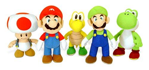Nintendo Super Mario - 1 Peluche Mario/Luigi/Toad/Yoshi/Koopa Troopa, produit aléatoire