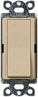 Lutron Claro On/Off Switch, 15-Amp, Single-Pole, SC-1PS-DS, Desert Stone