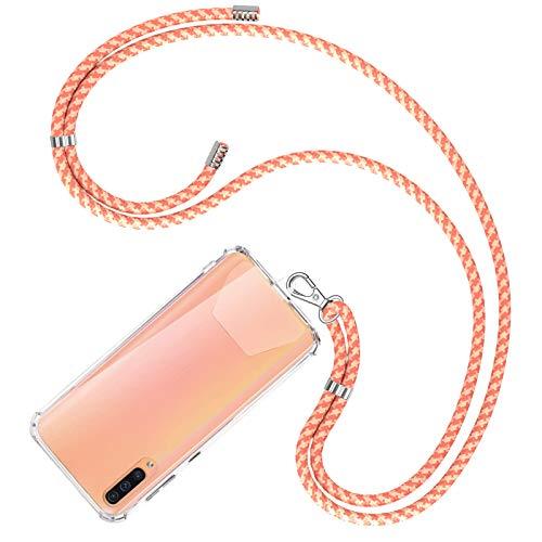 COCASES Universale Handykette, Schlüsselband Halsband zum Umhängen kompatibel mit meisten Smartphones(Korallefarbe)