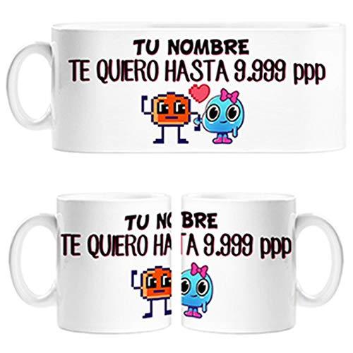 Diver Tazas Taza Dibujos Frikis píxel te Quiero hasta 9999 píxeles Personalizable con Nombre - Cerámica