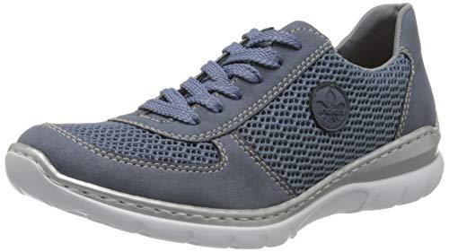 Rieker Damen Frühjahr/Sommer L3229 Slip On Sneaker, Blau (Jeans/Bleu/ 14 14), 39 EU