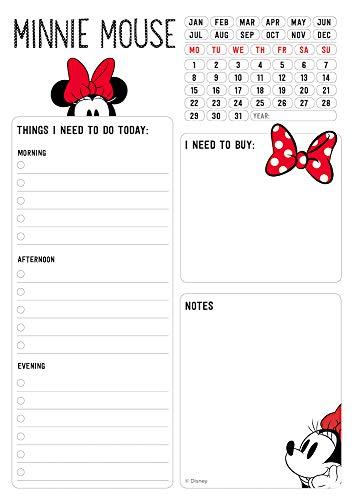 Grupo Erik - Bloc notas de escritorio Minnie Mouse Rocks The Dots, A5