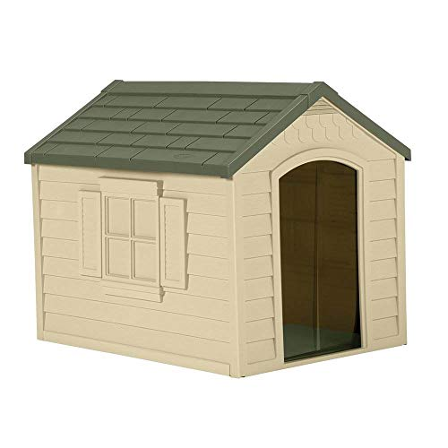 Suncast Outdoor Dog House with Door - Water...