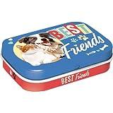 Nostalgic-Art 81387 Best Friends Cat & Dog | Pillen-Dose | Bonbon-Box | Metall | gefüllt mit Pfefferminz-Dragees