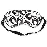 DJNGN 100% Seidenschlafmaske Augenmaske Sleeping Eye Mask Ocean Orca Sea Killer Whale Natural Silk Eye Mask Cover with Adjustable Strap