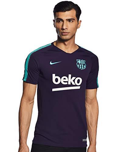 Nike 2018-2019 Barcelona Training Football Soccer T-Shirt Jersey (Purple)