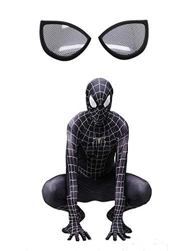CXYGZLJ Traje de Spiderman Negro (máscara de Malla), Adultos niños araña Paralelo...
