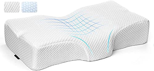 Cervical Pillow for Neck Pain, Adkwse Neck Support Pillows for Pain Relief Sleeping,Orthopedic Pillow,Contour Memory Foam Pillow