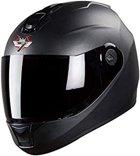 Steelbird SBH-11 7Wings Full Face Helmet (Large 600 MM, Dashing Black)