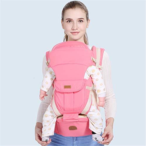 Mochila Portabebés Ergonomicas, Enjoyfeel Multifuncional transpirable Portador de Bebé, para Recién Nacido a 20kg (rosa)
